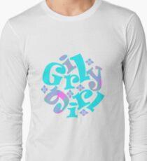 girly girl japanese print Long Sleeve T-Shirt