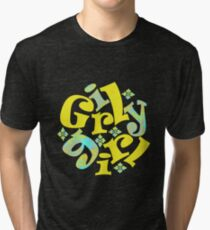 girly girl in yellow Tri-blend T-Shirt