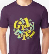 girly girl in yellow T-Shirt