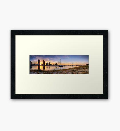 Golden Broadwater - Panorama Framed Print
