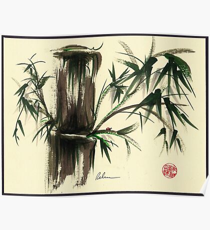 """""""Gentle Soul"""" - Little ladybug in her bamboo haven Poster"""
