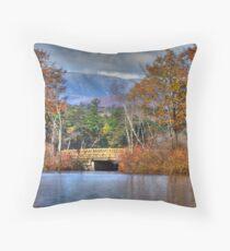 Quiet Country Bridge Throw Pillow