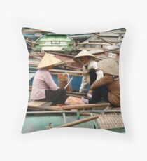 Tam Coc Chatter Throw Pillow