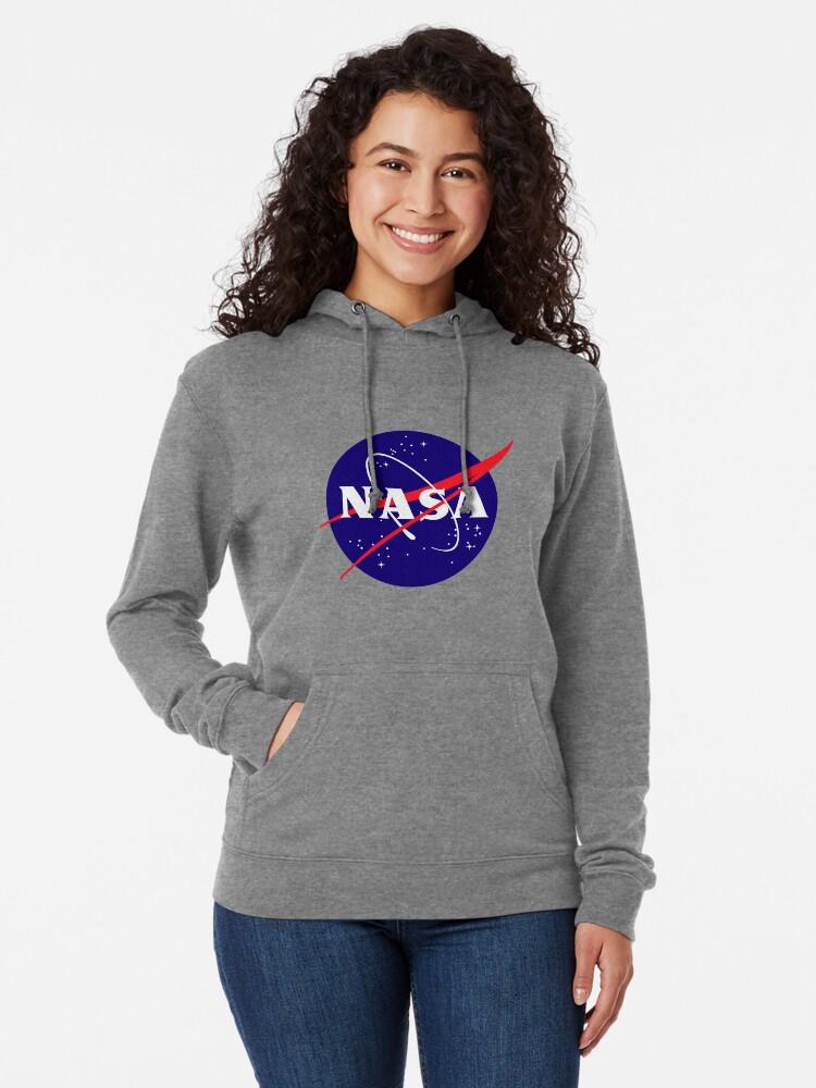 Alternate view of Official NASA (meatball) Logo Lightweight Hoodie