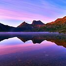Purple Dawn, Cradle Mountain by bevanimage