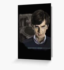 Norman Bates-Bates Motel Greeting Card