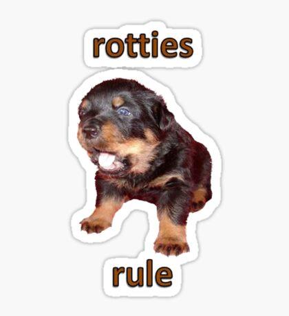 Rotties Rule Sticker