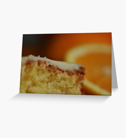 Orange Drizzle Cake Greeting Card