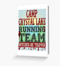 Camp Crystal Lake Running Team Greeting Card