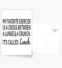 My Favorite Exercise Is Lunch Postcards