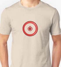 Red Power Button Unisex T-Shirt
