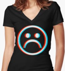 Sad Boys Women's Fitted V-Neck T-Shirt