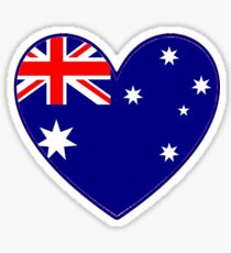 Australian Heart T-Shirt Sticker
