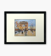 The Arc De Triomphe from Eugene Galien Laloue 1890 Framed Print