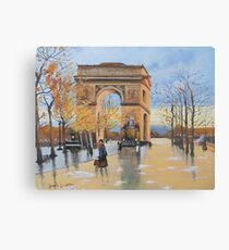 The Arc De Triomphe from Eugene Galien Laloue 1890 Canvas Print