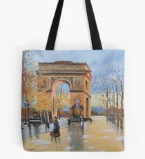 The Arc De Triomphe from Eugene Galien Laloue 1890 Tote Bag