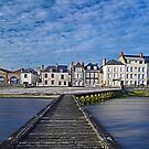 The seafront in Grandcamp by cclaude