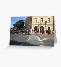 Anzac  Day - 2012 Echuca - March - Cerebus, Cadets Greeting Card