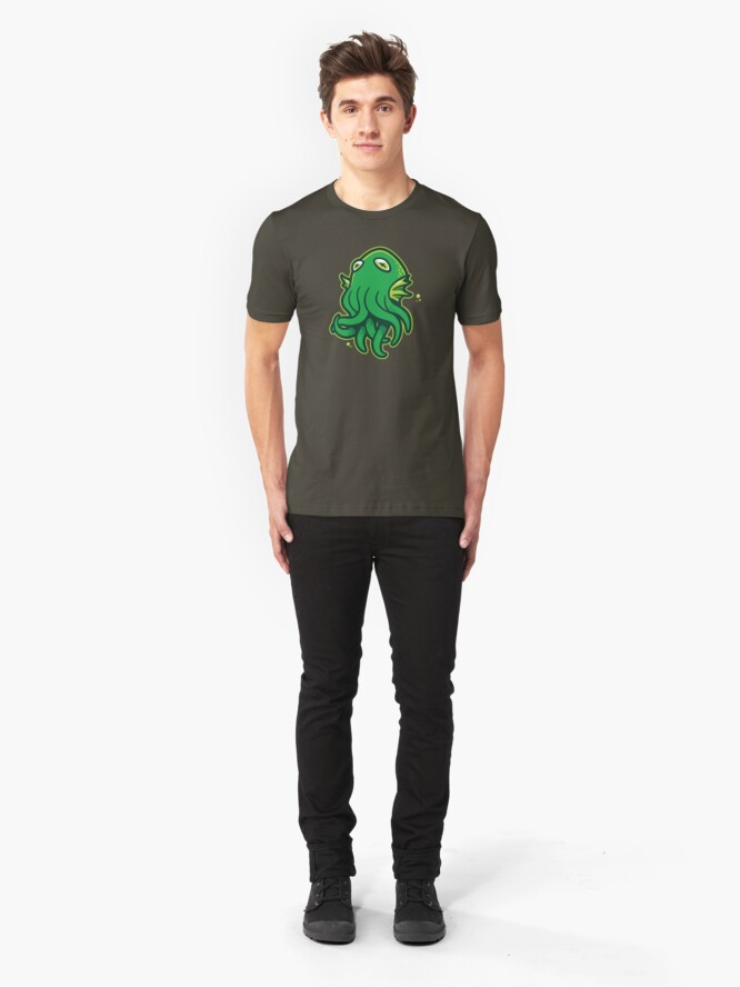 Alternate view of Call of Kerthulhu Slim Fit T-Shirt