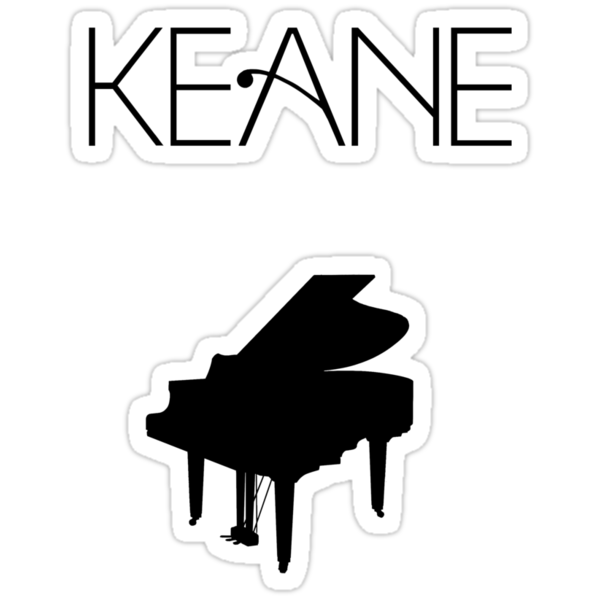 Quot Keane Logo Amp Piano Quot Stickers By Ami94 Redbubble