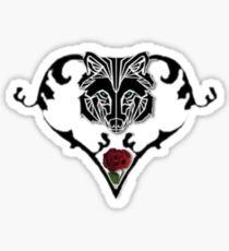 Wolf Design Sticker