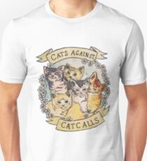 Camiseta ajustada Gatos contra llamadas de gato