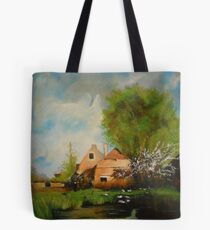 Ferme en bordure de chemin from Eugene Galien Laloue 1899 Tote Bag