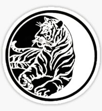 Tiger Silhouette In Tribal Tattoo Style Sticker