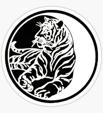 Tiger Tattoo - Black Sticker