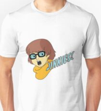 Velma Dinkley - Jinkes! [Blue Text] T-Shirt