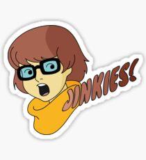 Velma Dinkley - Jinkes! [Brown Text] Sticker