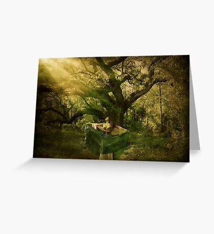 Caressing Light Greeting Card