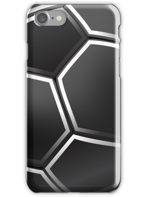 Black Football Ball iPhone 5 Case / iPhone 4 Case  / Samsung Galaxy Cases  by CroDesign