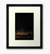 Romantic Evening By The Moonlight In Fiji, Framed Print