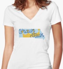 Crown Town Women's Fitted V-Neck T-Shirt