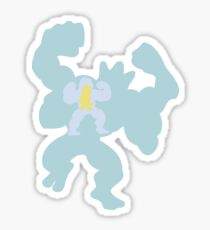 PKMN Silhouette - Machop Family Sticker
