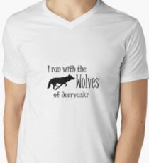 Running with the Wolves Men's V-Neck T-Shirt