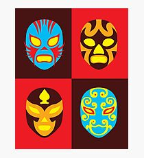 Mexican Wrestling Masks, Luchador Photographic Print