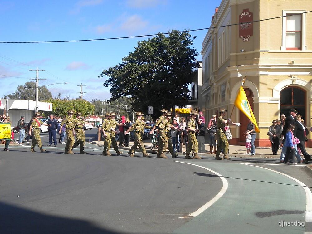 Anzac  Day - 2012 Echuca - Marching Cadets  by djnatdog