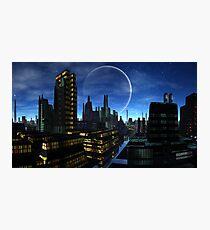 Moon over Santos Grayling Photographic Print