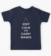 Keep Calm and Carry Wands Kids Tee