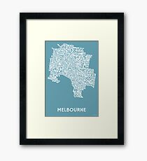 Melbourne Poster - Kiss & Teal Framed Print