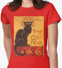 Soon, the Black Cat Tour by Rodolphe Salis Womens Fitted T-Shirt