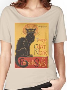 Soon, the Black Cat Tour by Rodolphe Salis Women's Relaxed Fit T-Shirt