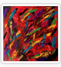 Abstract multi-colored brush strokes Sticker