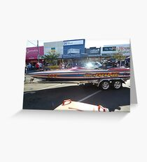 Southern 80 2012 - THE JUDGE SPEED BOAT - ECHUCA Greeting Card