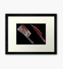 Bloody tools of death Framed Print