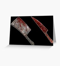Bloody tools of death Greeting Card