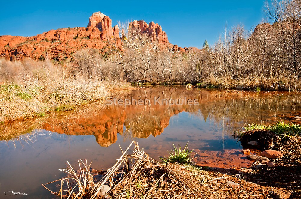View to Cathedral Rock, Sedona by Stephen Knowles