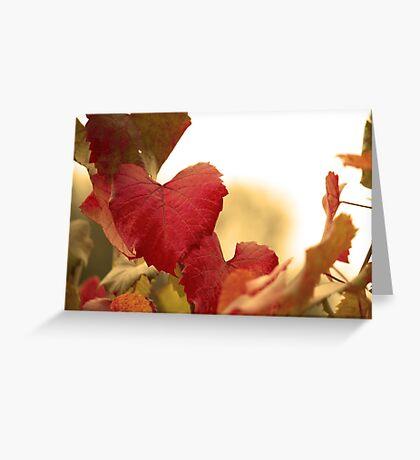 Golden Autumn Heart  Greeting Card